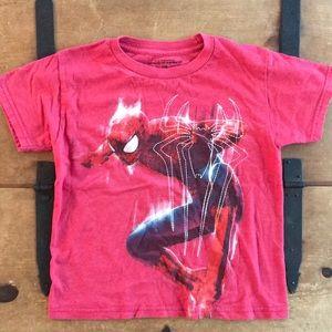 Spider-Man Boys Redish-Pink Graphic Tee Shirt